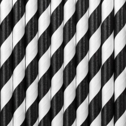 kinderfeestje-versiering-papieren-rietjes-black-white-pirates-party-6