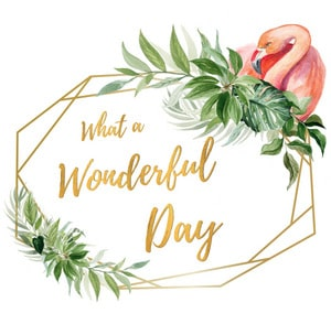 Feestartikelen | What a Wonderful Day