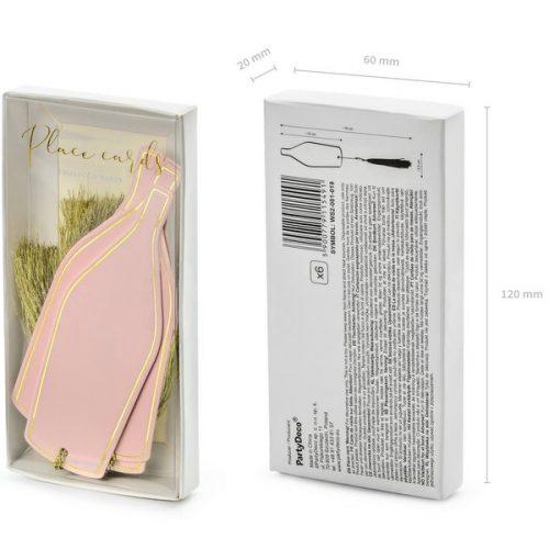 feestartikelen-plaatskaartjes-pink-bottle