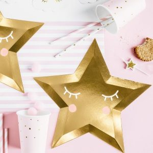 babyshower-decoratie-papieren-bordjes-golden-star-little-star-2