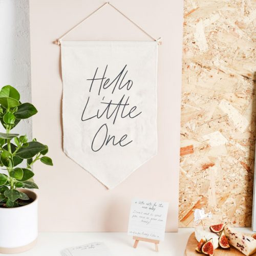 babyshower-versiering-canvas-vlag-kaartjes-hello-little-one