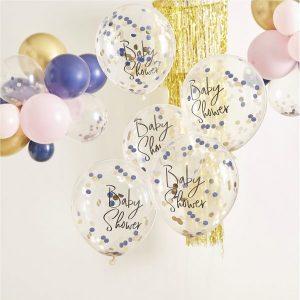 babyshower-versiering-confetti-ballonnen-babyshower-gold-pink-navy-2