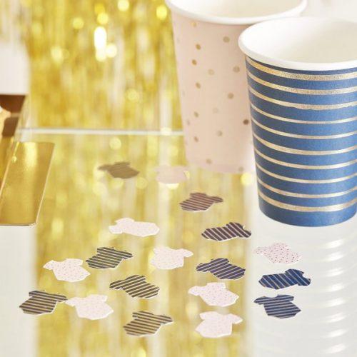 babyshower-versiering-confetti-rompertjes-gold-pink-navy-2