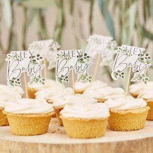 babyshower-versiering-cupcake-toppers-botanical-baby-2
