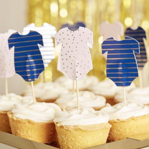 babyshower-versiering-cupcake-toppers-rompertjes-gold-pink-navy-2