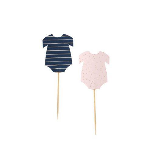 babyshower-versiering-cupcake-toppers-rompertjes-gold-pink-navy
