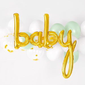 babyshower-versiering-folieballon-baby-goud-4