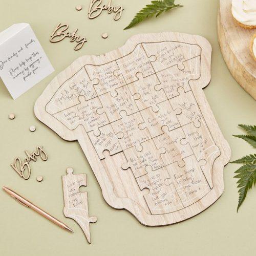 babyshower-versiering-houten-puzzel-gastenboek-rompertje-botanical-baby
