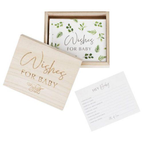 babyshower-versiering-houten-wensbox-botanical-baby