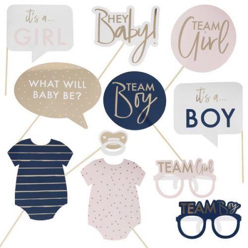 babyshower-versiering-photobooth-props-gold-pink-navy-gepersonaliseerd