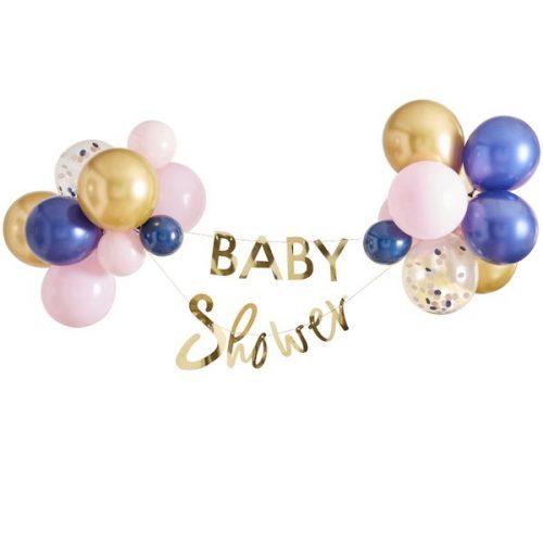 babyshower-versiering-slinger-ballonnen-babyshower-gold-pink-navy