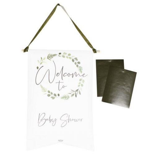 babyshower-versiering-welcome-sign-botanical-baby-gepersonaliseerd