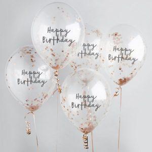 feestartikelen-confetti-ballonnen-happy-birthday-rosegoud