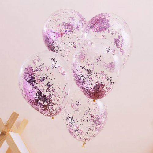 feestartikelen-confetti-ballonnen-roze-glitter-pamper-party-2