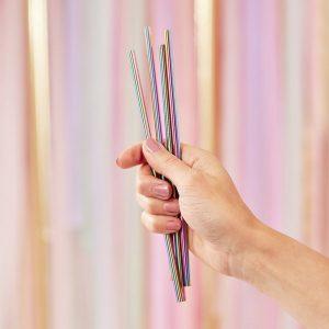 feestartikelen-metalen-rietjes-rainbow-mix-it-up-pink-2