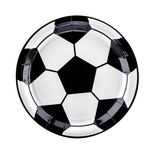 feestartikelen-papieren-bordjes-voetbal-black-white-4