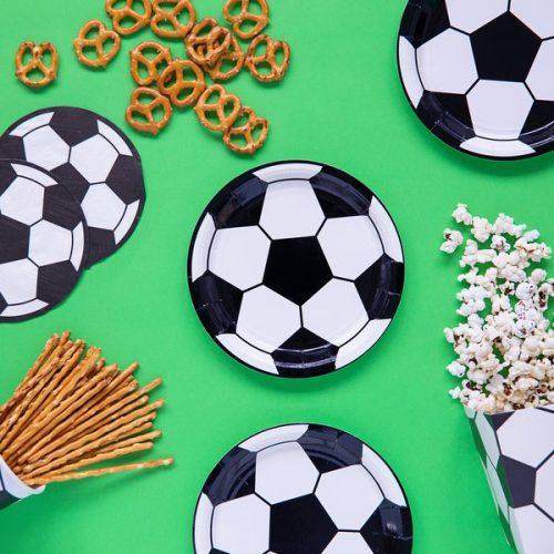 feestartikelen-papieren-bordjes-voetbal-black-white