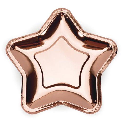 feestartikelen-papieren-gebaksbordjes-rose-golden-star