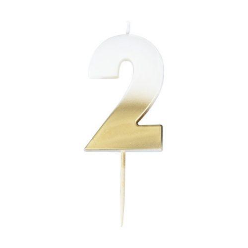feestartikelen-taartkaars-gold-ombre-cijfer-2-mix-it-up-gold