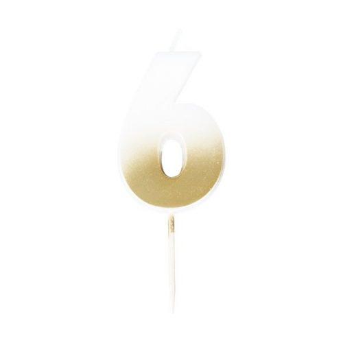 feestartikelen-taartkaars-gold-ombre-cijfer-6-mix-it-up-gold