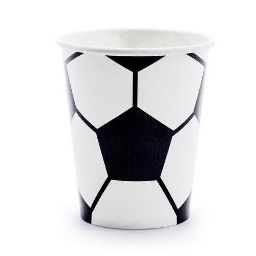 kinderfeestje-versiering-papieren-bekertjes-voetbal-black-white