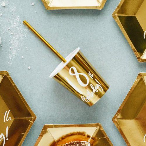 feestartikelen-papieren-bekertjes-18th-birthday-goud