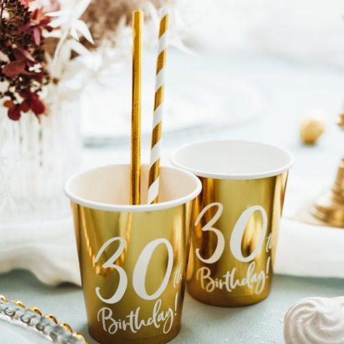 feestartikelen-papieren-bekertjes-30th-birthday-goud-3