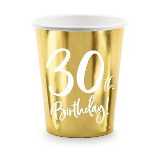 feestartikelen-papieren-bekertjes-30th-birthday-goud-4