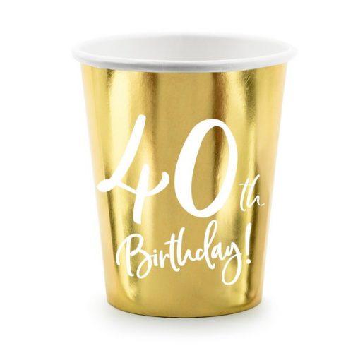 feestartikelen-papieren-bekertjes-40th-birthday-goud-4