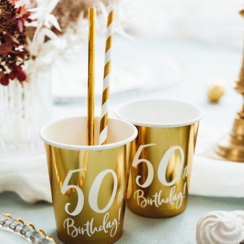 feestartikelen-papieren-bekertjes-50th-birthday-goud-2