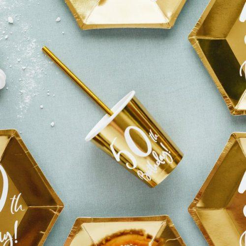 feestartikelen-papieren-bekertjes-50th-birthday-goud-3