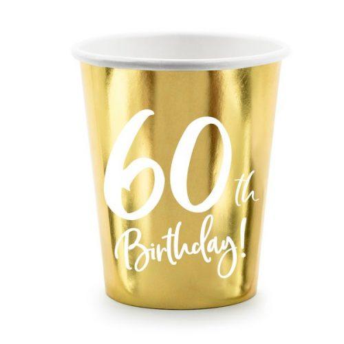 feestartikelen-papieren-bekertjes-60th-birthday-goud