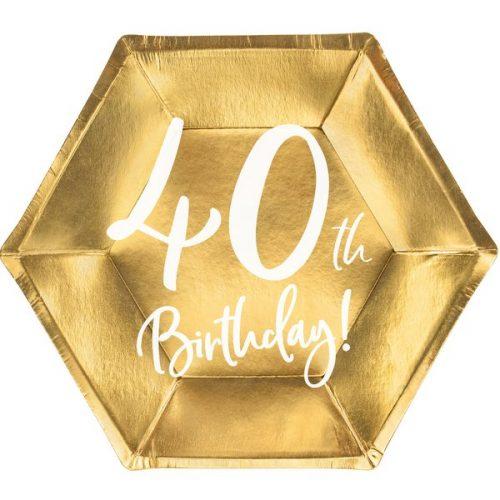 feestartikelen-papieren-bordjes-40th-birthday-goud-7