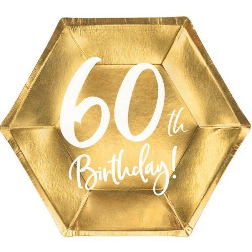 feestartikelen-papieren-bordjes-60th-birthday-goud