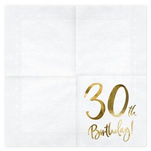 feestartikelen-servetten-30th-birthday-gold-white-2