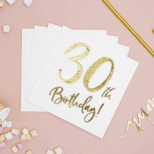 feestartikelen-servetten-30th-birthday-gold-white-3