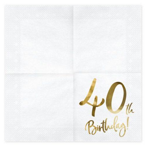 feestartikelen-servetten-40th-birthday-gold-white-2