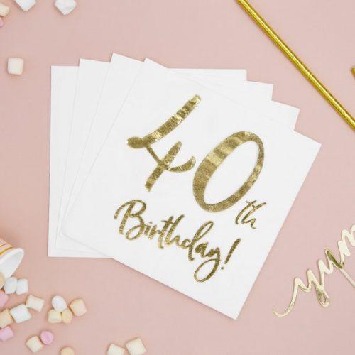 feestartikelen-servetten-40th-birthday-gold-white-3