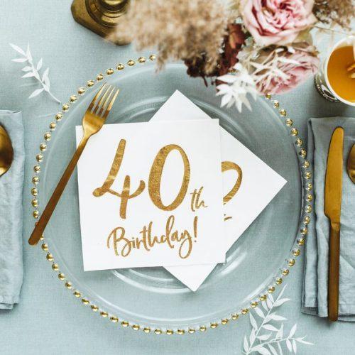 feestartikelen-servetten-40th-birthday-gold-white-5