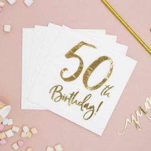 feestartikelen-servetten-50th-birthday-gold-white-3