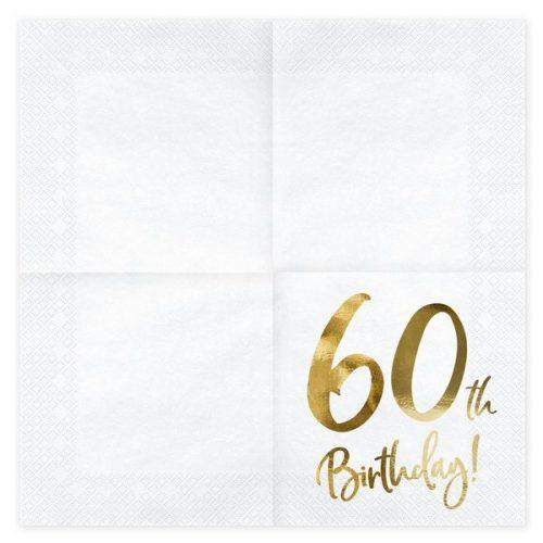 feestartikelen-servetten-60th-birthday-gold-white-2