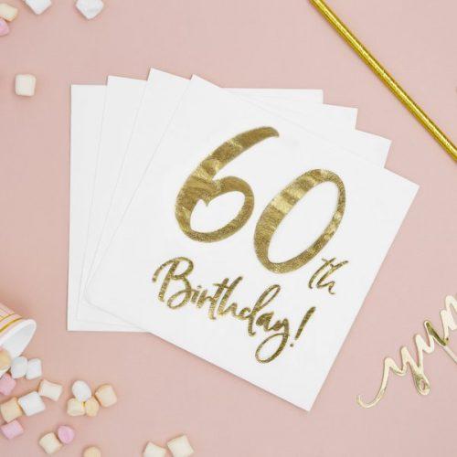 feestartikelen-servetten-60th-birthday-gold-white-3