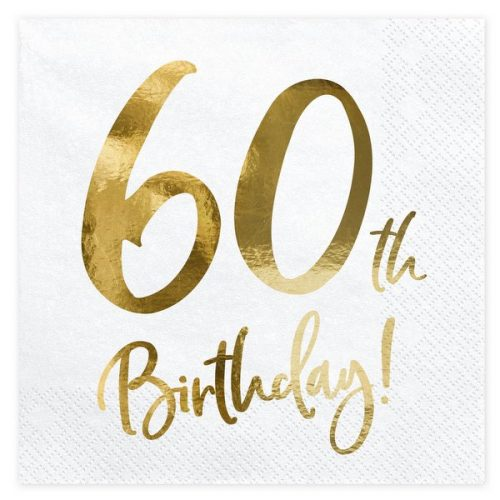feestartikelen-servetten-60th-birthday-gold-white