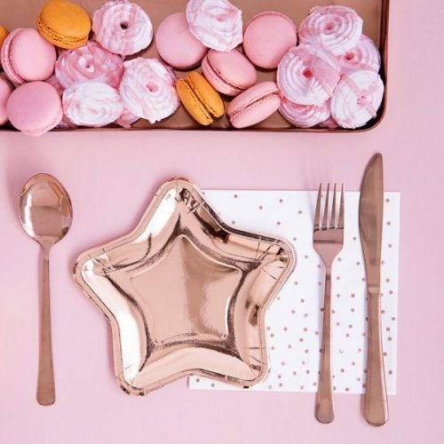 feestartikelen-servetten-polka-dot-rose-gold