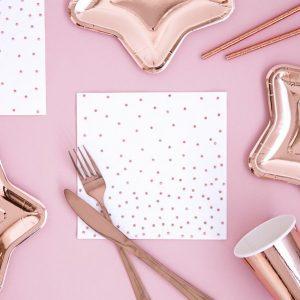 feestartikelen-servetten-polka-dot-rose-gold