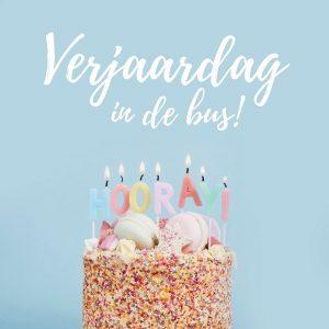 Verjaardag in de bus!