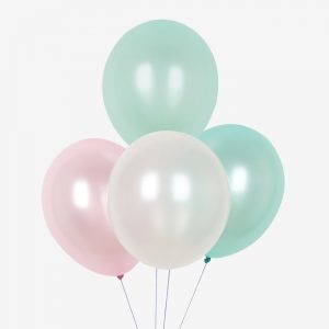 bruiloft-dcoratie-ballonnen-mix-pink-and-mint-metallic
