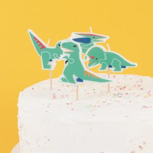 feestartikelen-taartkaarsen-dinosaur