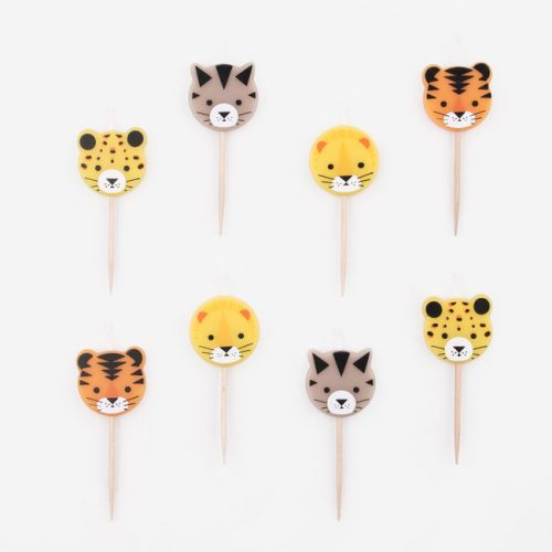 feestartikelen-taartkaarsen-jungle-animals