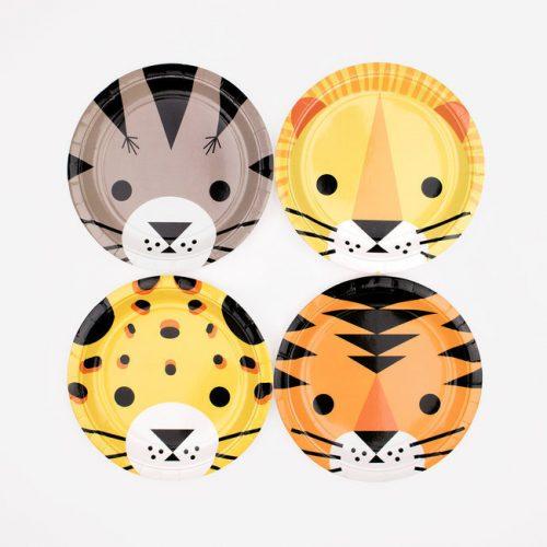 kinderfeestje-versiering-papieren-bordjes-jungle-animals-2